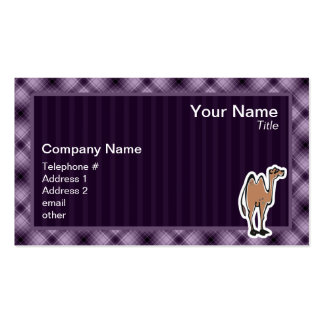Cute Camel; Purple Business Card