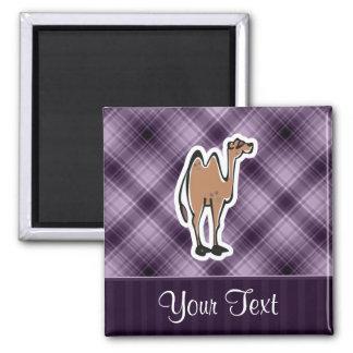 Cute Camel; Purple Fridge Magnet