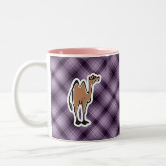 Cute Camel; Purple Two-Tone Coffee Mug