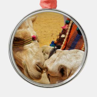 Cute Camels Metal Ornament
