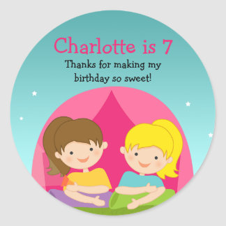 Cute Camping Birthday Party Sticker