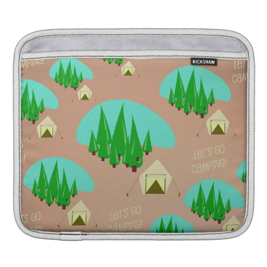 Cute Camping Pattern Sleeve For iPads