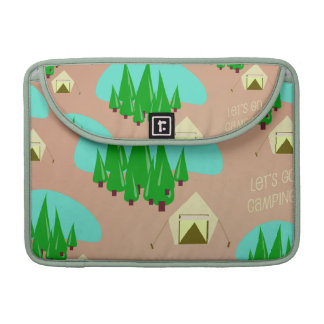Cute Camping Pattern Sleeve For MacBooks