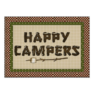 Cute Camping Poster