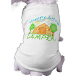 Cute Camping Puppy Dog Tee