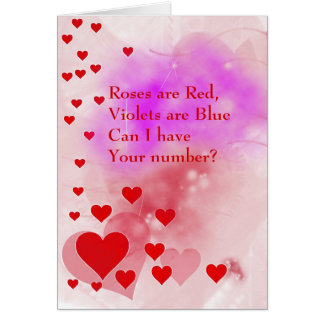 Cute Can I have Your Number Valentines Day Card