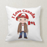 Cute Canada Themed Tees, Gifts for Boys Pillows