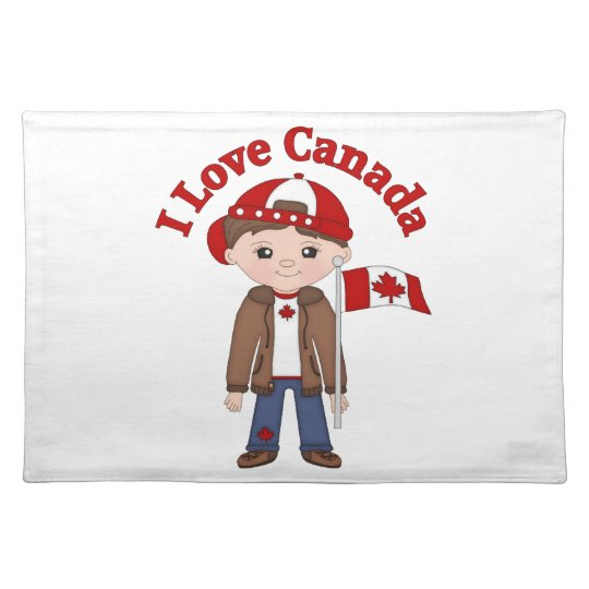 Cute Canada Themed Tees, Gifts for Boys Placemat