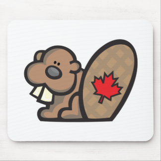 cute canadian beaver mouse pad