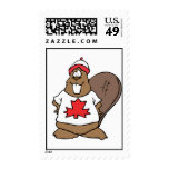 Cute Canadian Beaver Postage