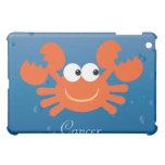 Cute Cancer Crab Zodiac Sign Custom iPad Mini Covers