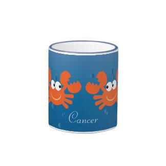 Cute Cancer Crabs Zodiac Sign Custom Coffee Mug