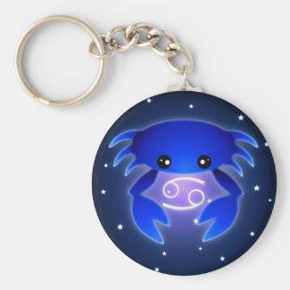 Cute Cancer Zodiac Keychain
