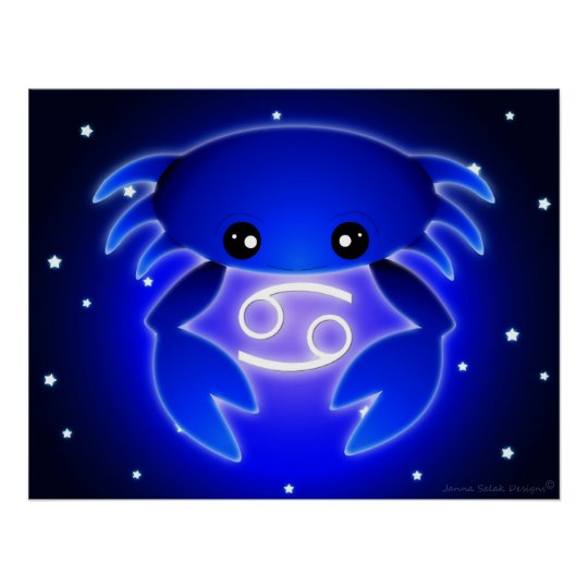 Cute Cancer Zodiac Poster