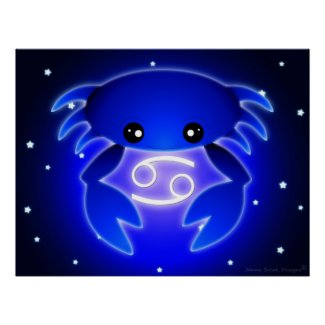 Cute Cancer Zodiac Print