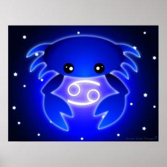 Cute Cancer Zodiac Print
