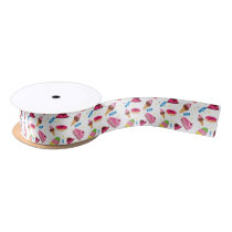 Cute candy and sweet colored pattern satin ribbon