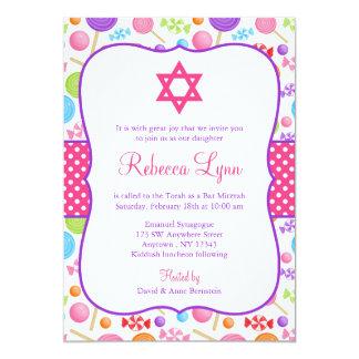 Cute Candy Bat Mitzvah Card