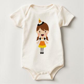 Cute Candy Corn Girl Costume Baby Bodysuit