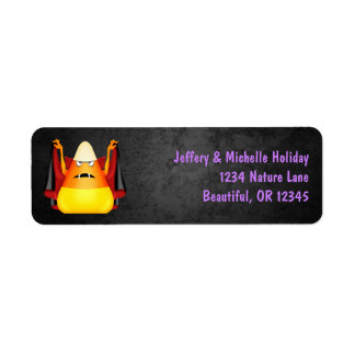 Cute Candy Corn Halloween Holiday Address Label