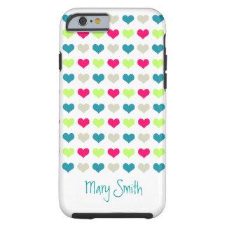 Cute Candy Hearts Custom Name iPhone 6 Case