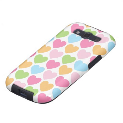 Cute candy hearts girly Samsung case for girls Galaxy SIII Covers