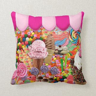 Cute Candy Ice Cream Sweet Sixteen Pillow