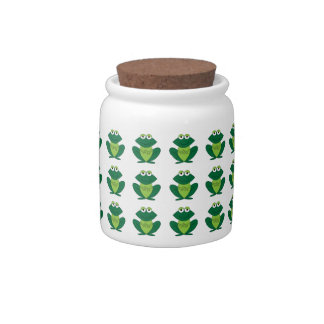 Cute Candy Jar With Frogs