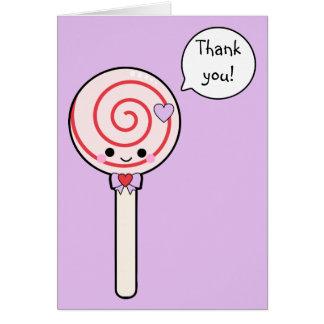 Cute Candy Lollipop Thank You Card