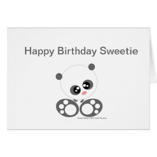 Cute Candy pandy Card