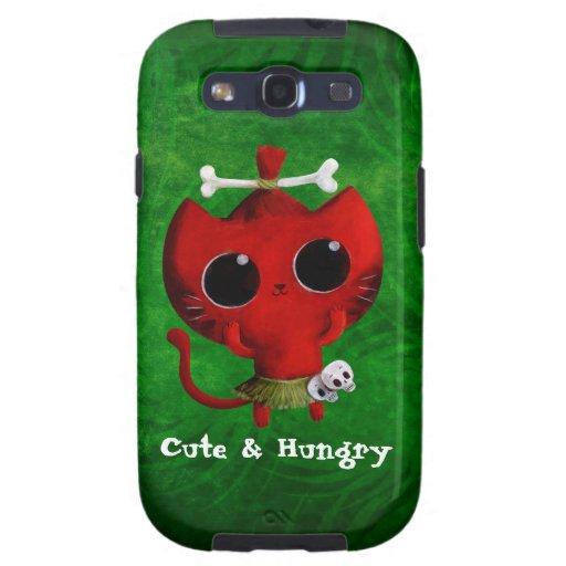 Cute Cannibal Cat Galaxy S3 Case