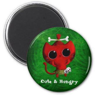 Cute Cannibal Cat Fridge Magnets