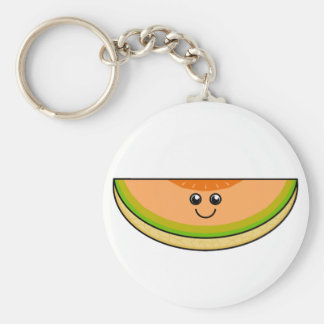 Cute Cantaloupe Basic Round Button Keychain
