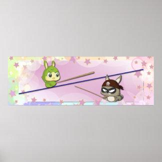 Cute Canvas Funny Cartoon Character Kawaii Poster