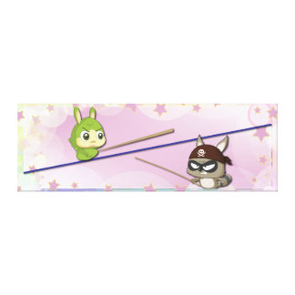 Cute Canvas Funny Cartoon Character Kawaii Poster