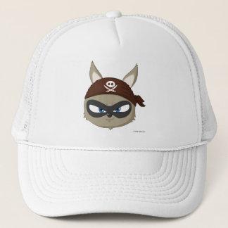Cute cap pirate raccoon cartoon character hat