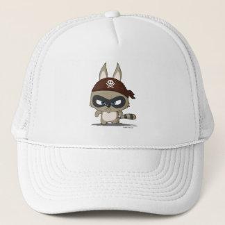 Cute cap raccoon pirate cartoon character hat