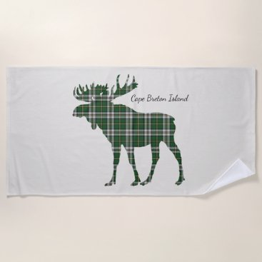 Beach Themed Cute Cape Breton Island moose beach towel