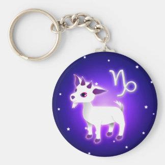 Cute Capricorn Zodiac Basic Round Button Keychain