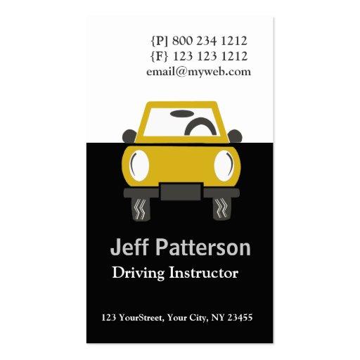 Cute Car Automobile Illustration Business Card Template