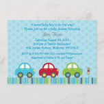 Cute Car Baby Shower Invitation
