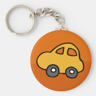 Cute CAR Basic Round Button Keychain