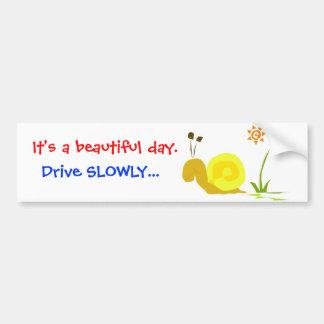 """Cute Car Bumper Sticker """"drive slowly"""""""