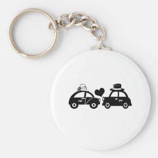 Cute car couple keychain