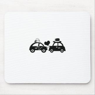 Cute car couple mouse pad