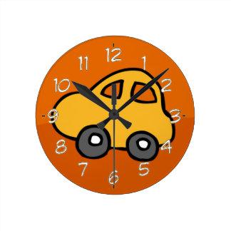 Cute CAR Round Clock