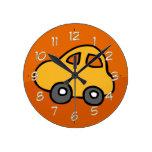 Cute CAR Round Clocks
