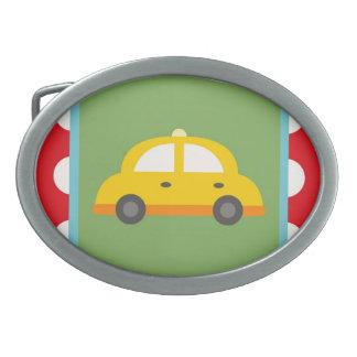 Cute Car Transportation Theme Baby Kids Gifts Oval Belt Buckle