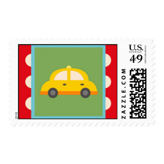 Cute Car Transportation Theme Baby Kids Gifts Postage Stamp