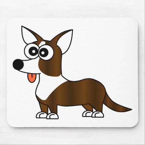 Cute Cardigan Corgi - Brindle Mousepad